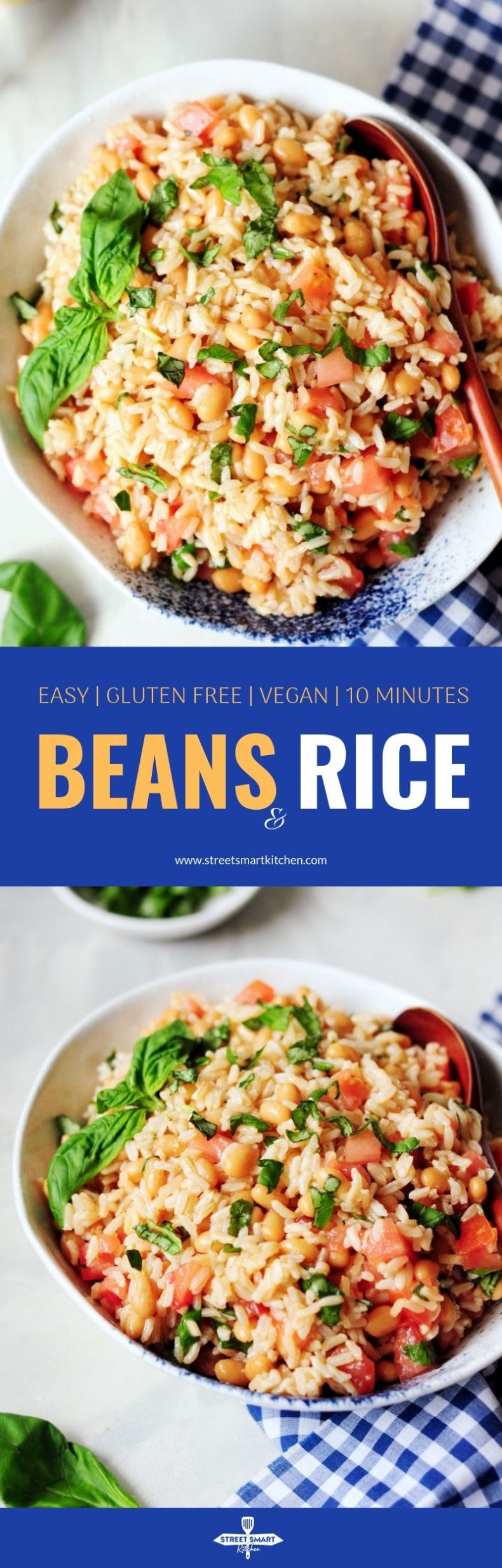 Use your leftover rice to make this light and refreshing beans and rice side dish. It's protein-packed, gluten-free, and ready in ten minutes.