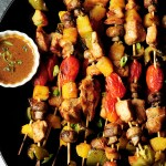 Chicken kabobs with marinated chicken, bell peppers, pineapple chunks, mushrooms and cherry tomatoes are packed with flavor and perfect for your gatherings.