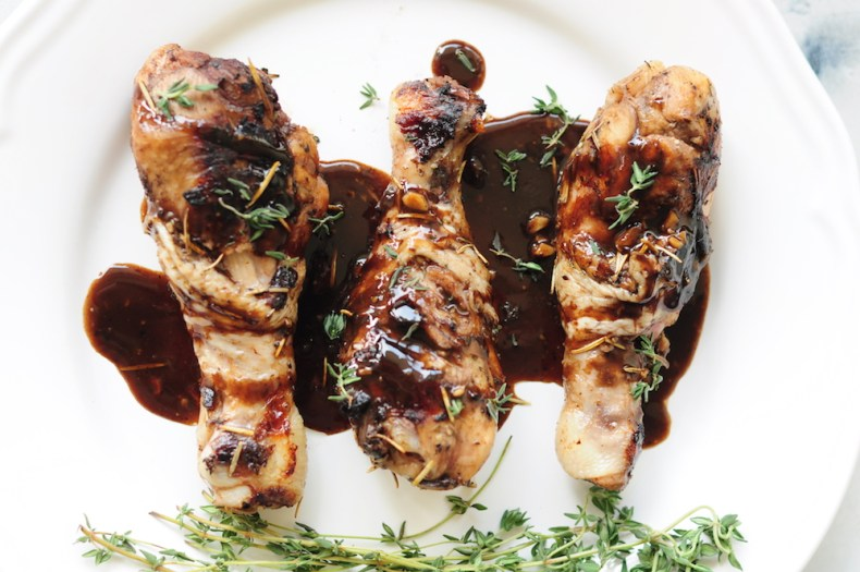 Honey Balsamic Sous Vide Chicken Legs