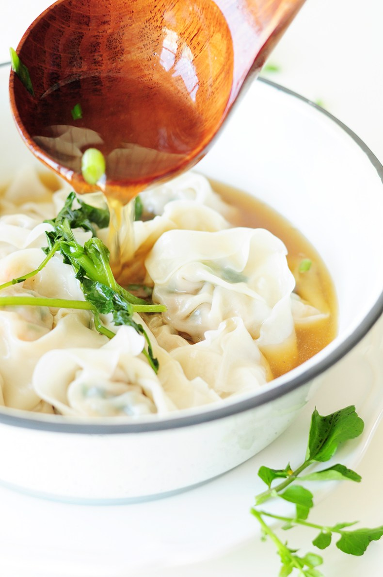 A step-by-step guide to homemade wonton soup, one of the heartiest Chinese comfort foods. It's also a fantastic, healthy freezer meal for a whole family.