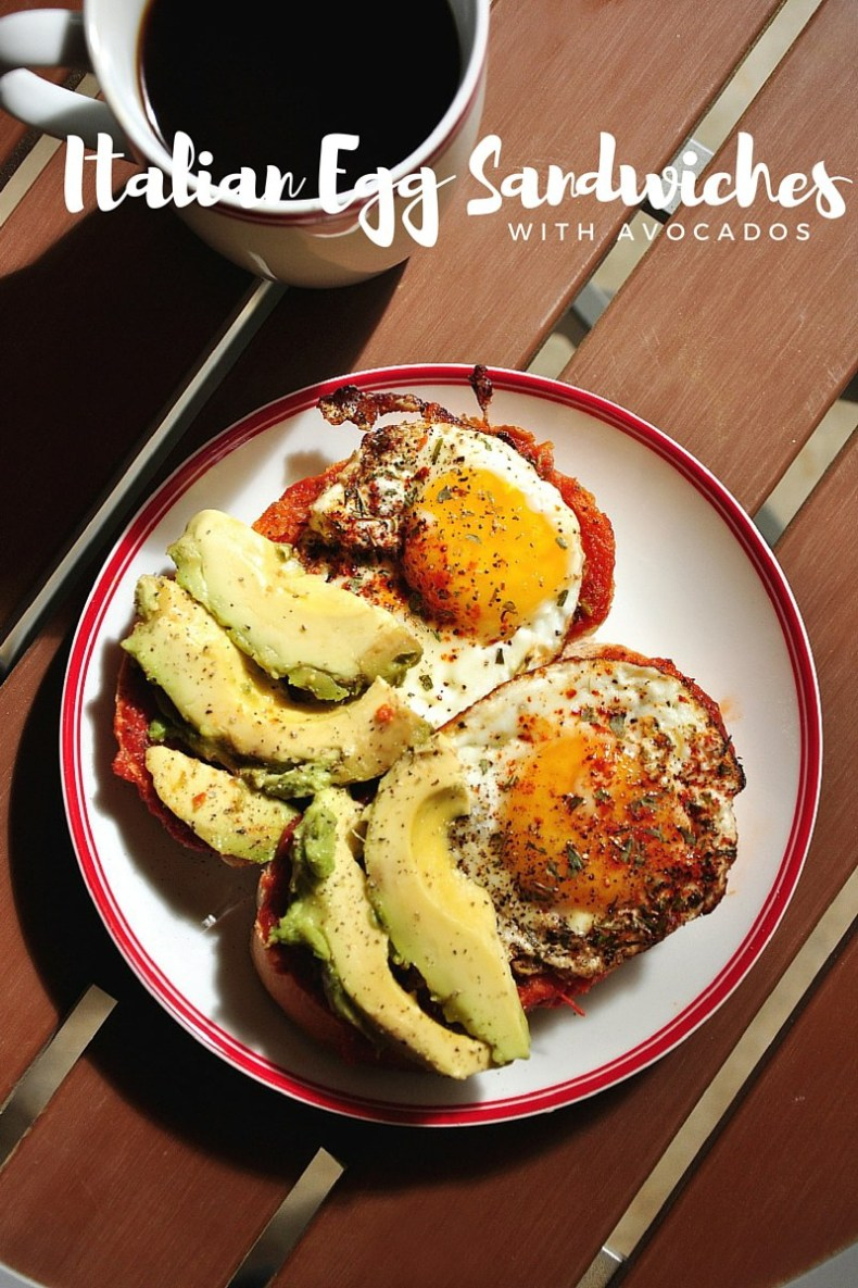 Done in just 10 minutes, this Italian Egg Sandwiches with Avocados is a fantastic quick breakfast!