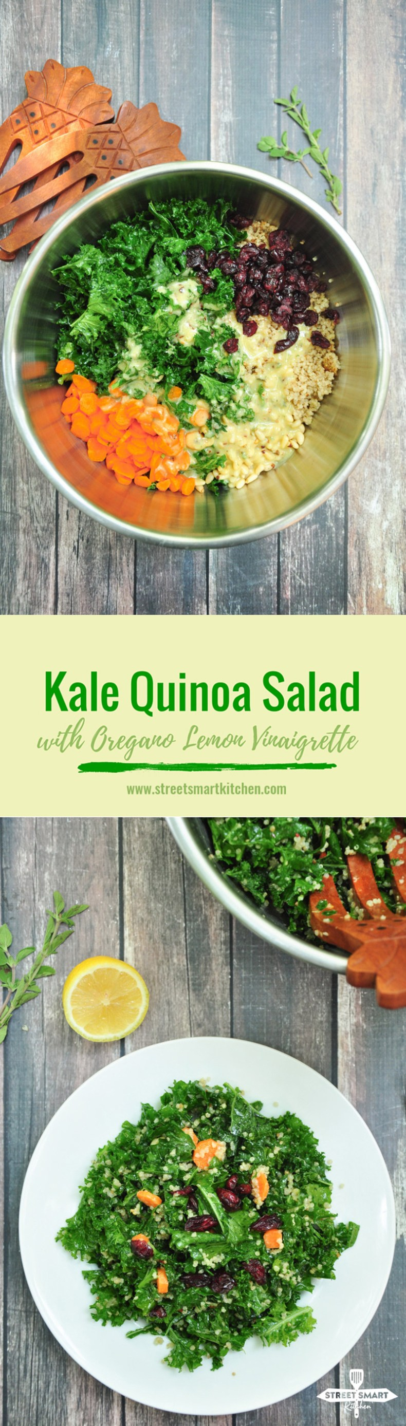 Kale Quinoa Salad with Oregano Lemon Vinaigrette-5 SSK
