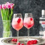 Meyer Lemon Raspberry Cocktail