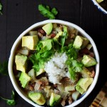 A colorful, healthy and flavorful one-pan meal featuring tender pork and a refreshing mojo sauce. This gluten-free pork chili recipe is done in half an hour from start to finish!