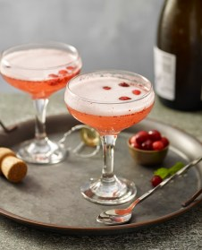 Pear and Cranberry Champagne Cocktails from Complete Sous Vide Cookbook