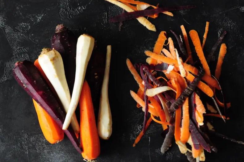 Peeled Rainbow Carrots