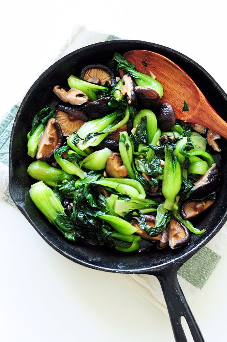 Sauted Bok Choy With Shiitake Mushrooms Gluten-Free -7135