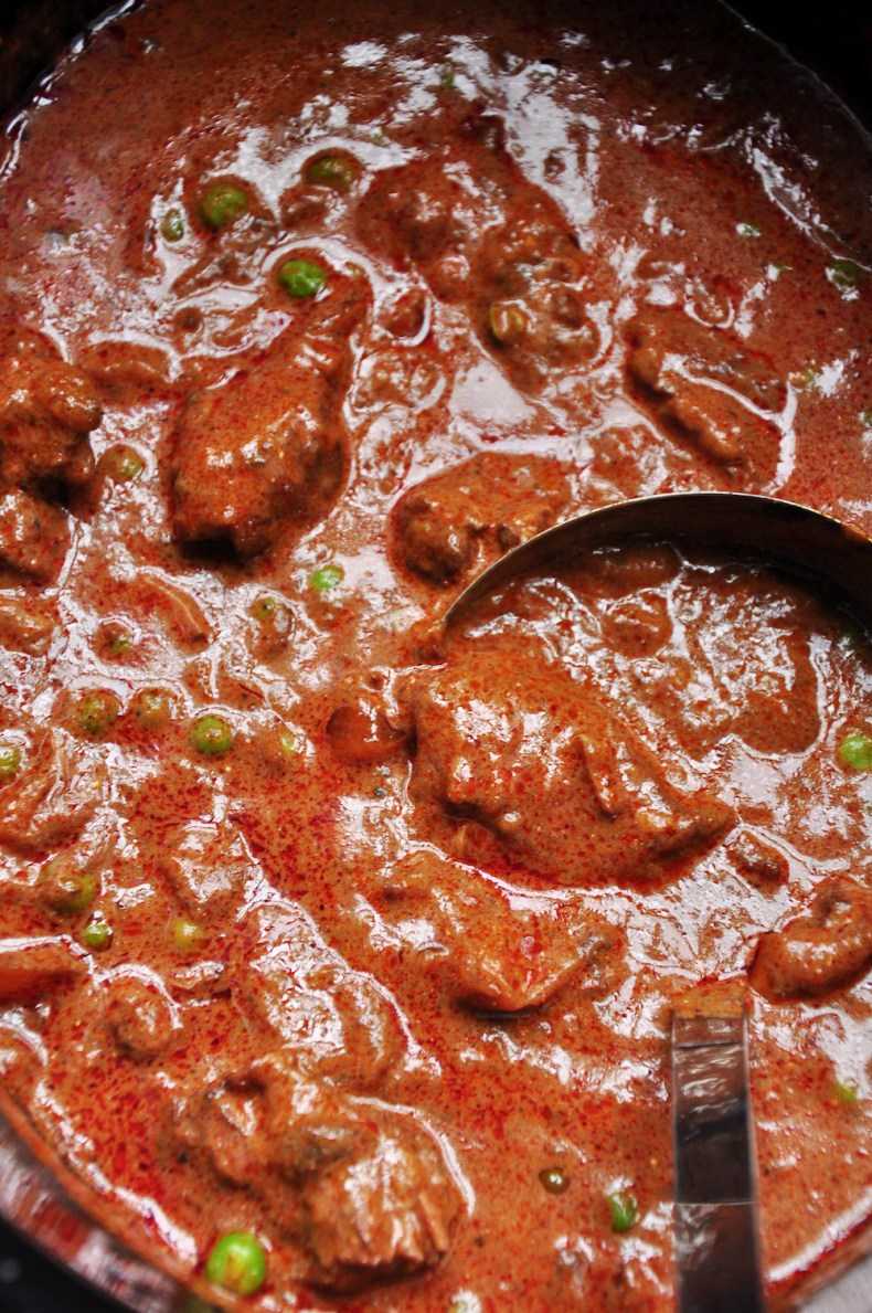beef goulash in a slow cooker