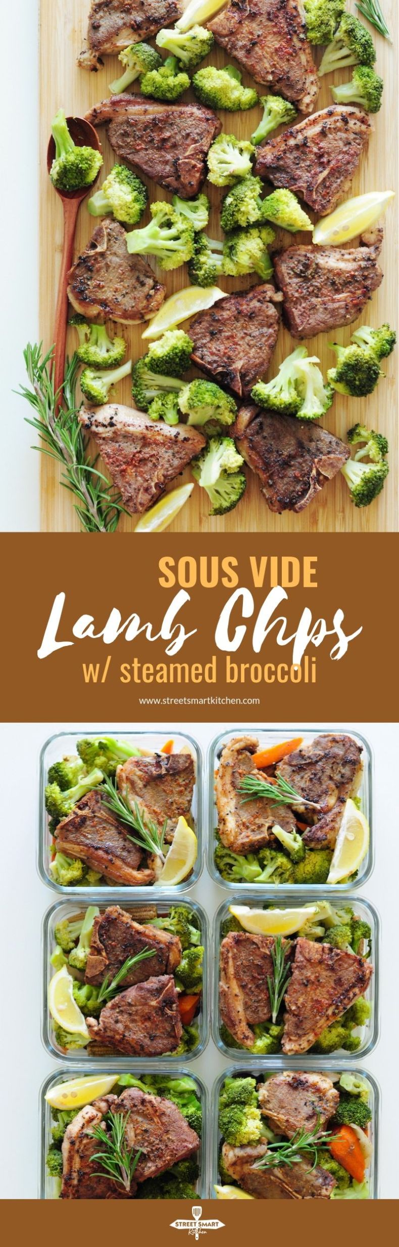 Tender, juicy, and melt-in-your-mouth from the inside out, these sous vide lamb chops are so easy to make! Pair them with steamed broccoli for a balanced and low-carb meal.