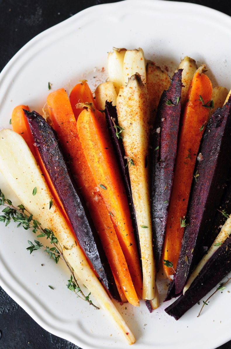 Sous vide carrots cooked in butter, honey and infused with fresh thyme, then boldly finished with smoked paprika, ground cumin, and freshly ground black pepper.