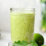 This is the tastiest cilantro lime dressing you'll ever make. It's dairy-free, gluten-free, zesty, fresh, spicy, and addictive. All you need are six ingredients and five minutes.