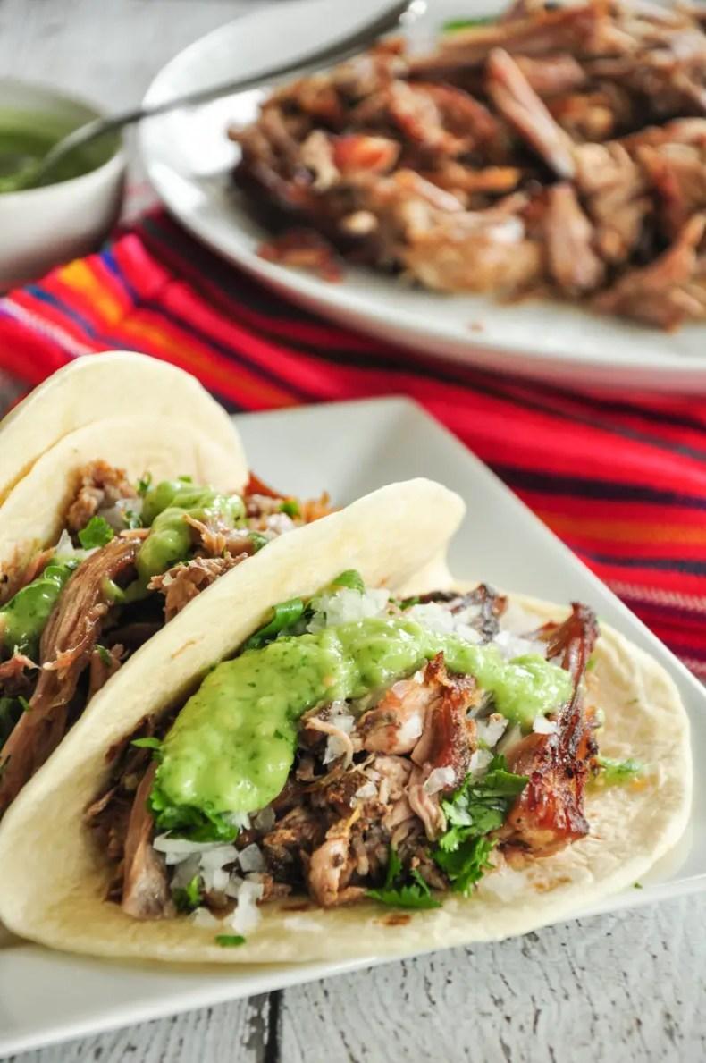 Tacos de Carnitas with Sous Vide Pork Shoulder