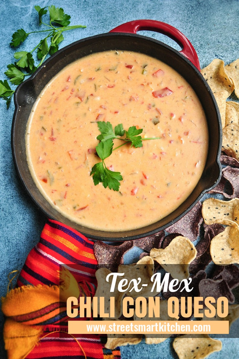 Spicy, rich, incredibly velvety, and dangerously addictive, this Tex-Mex Chili Con Queso is the real deal! It's also gluten free.
