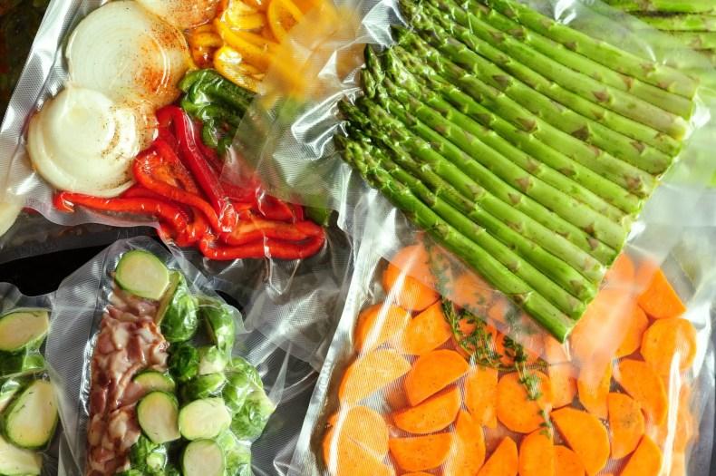 Vacuum-sealed vegetables
