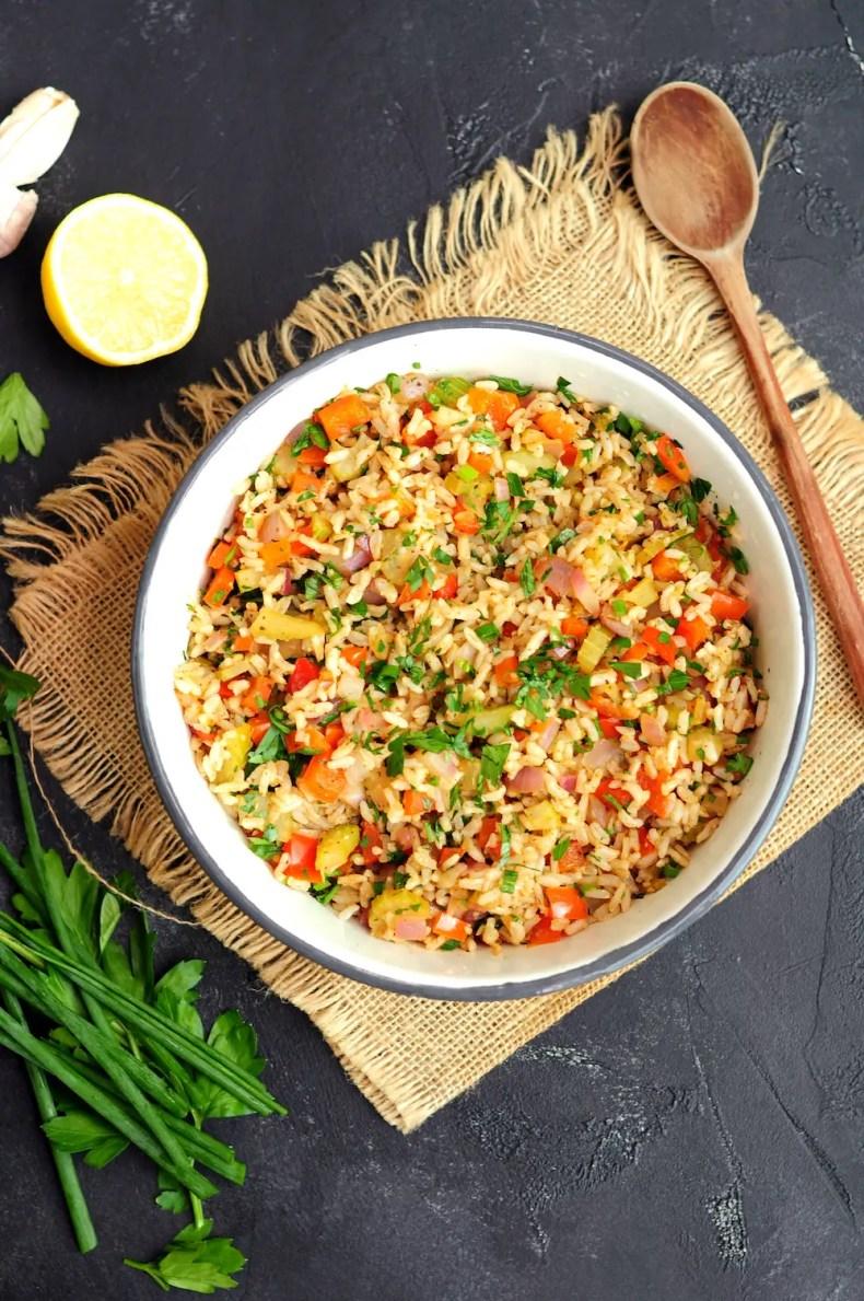 Vegetarian Cajun Rice (Meatless Dirty Rice)