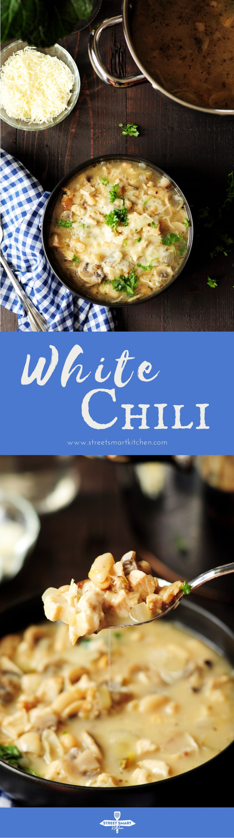 This white chili recipe offers a different take on dark versions of chili. While still giving you a hearty meal, it provides a healthy choice with a lighter color, flavor, and consistency.