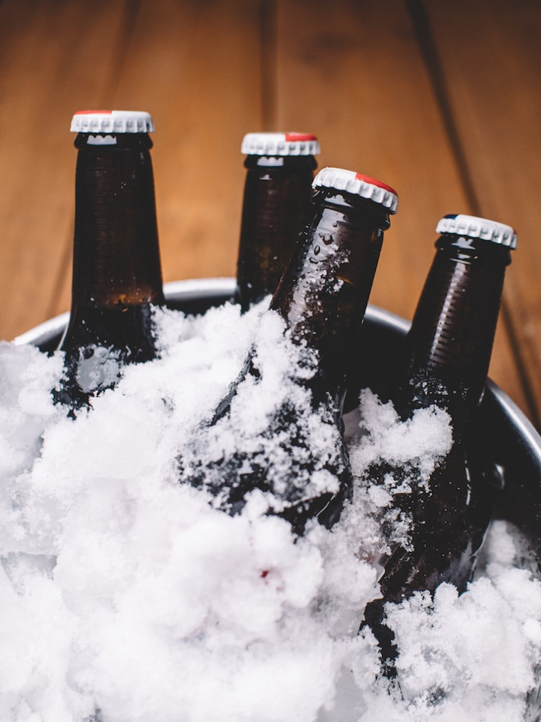 beer in ice