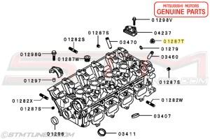 STM: GENUINE OEM 4G63 CYLINDER HEAD OIL FEED PLUG   EVO 89   9099 DSM   MD137353