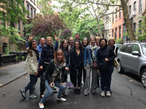 Private Manhattan Walking Tour group in Greenwich Village