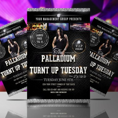 Turnt Up Tuesday Flyer Template