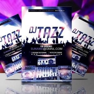 DJ Tazz Mockup Flyer Template