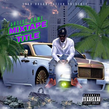 Street Money Mixtape Cover Template