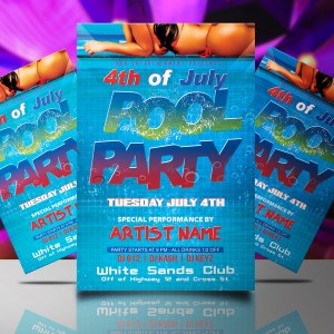 4th of July Pool Party Flyer Template