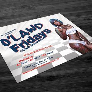 O'Lawd Fridays Flyer Template