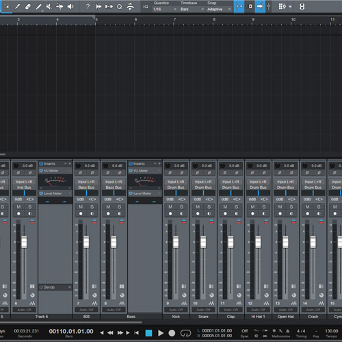 Studio One 5 Mixing Template