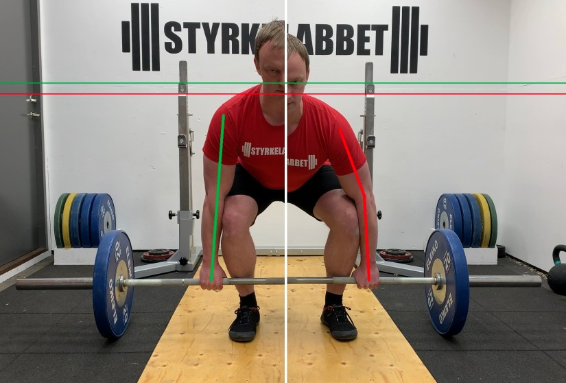 Arms in the deadlift comparison