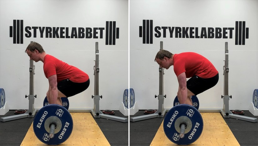 Deadlift with flat versus round back