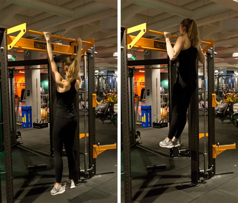 pull-ups start and bottom