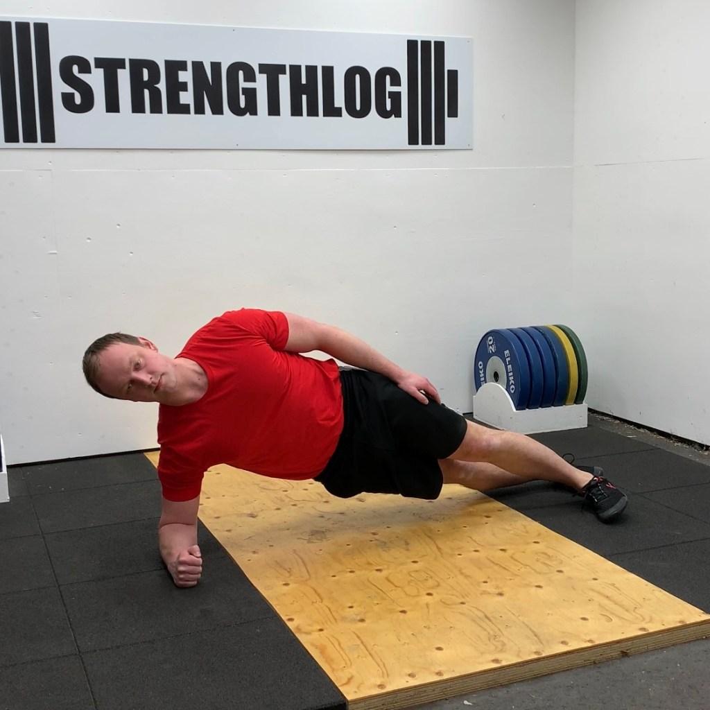 Side plank exercise technique