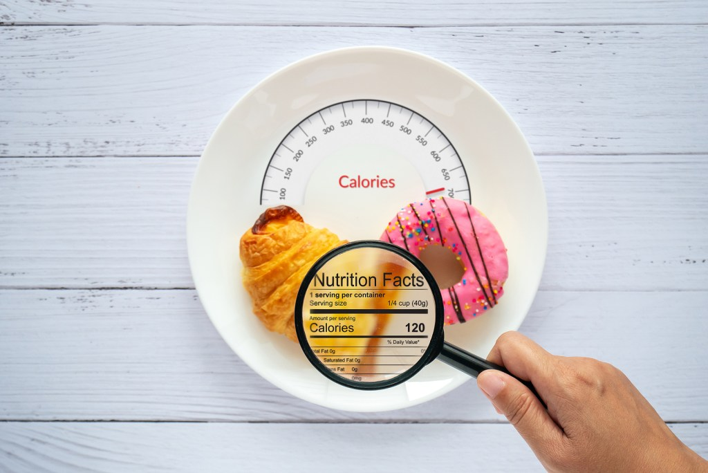 Counting calories in food
