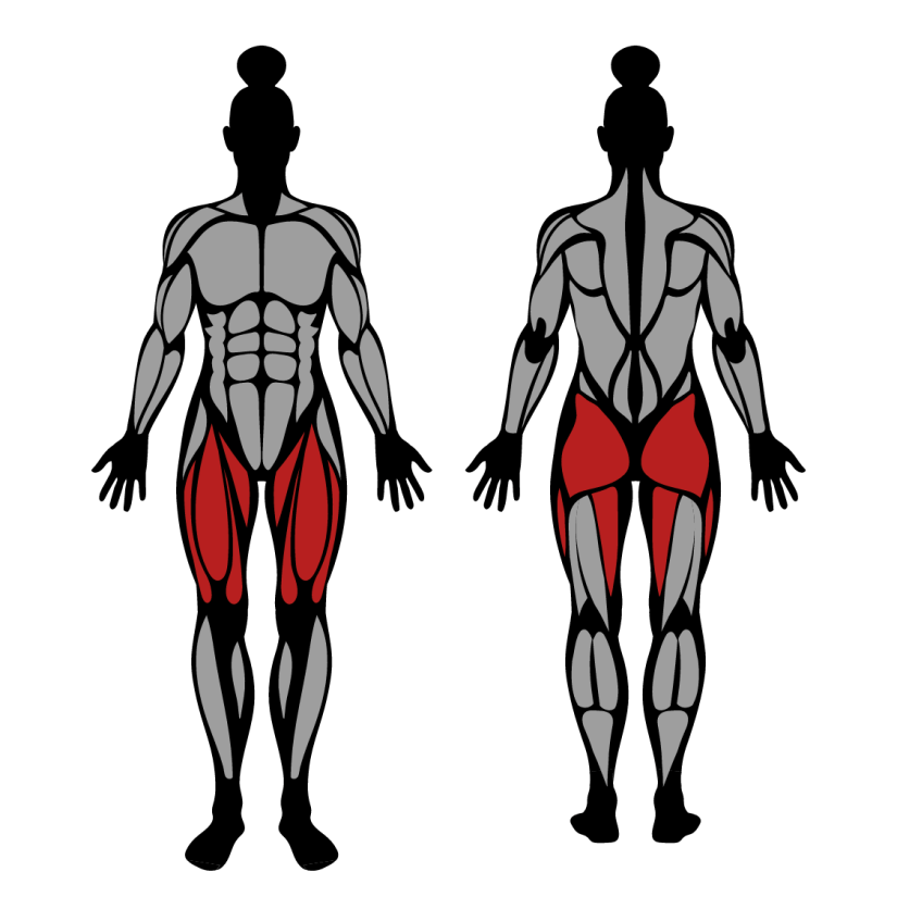 Muscles worked by barbell lunge