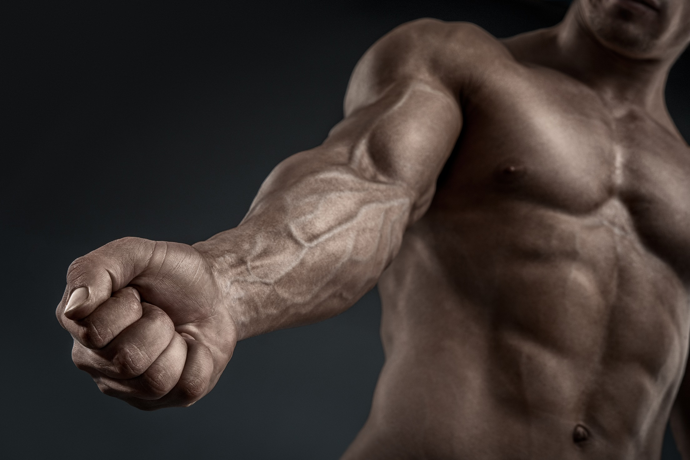 Forearm flexors and grip muscles