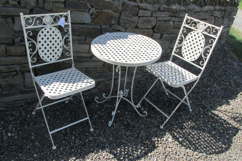 cream bistro patio set table 2 chairs beau design