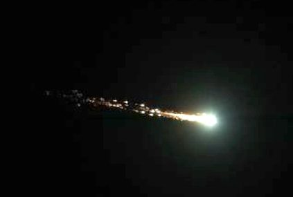 meteor fragmenting