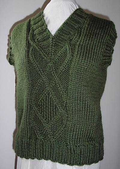 Pullunder aus dicker Wolle, vest from very thick wool