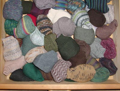 Sockenschublade, sock drawer