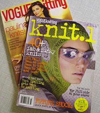 Vogue Knitting Holiday Issue & Vogue Knitting Knit.1