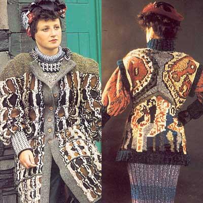 Gestrickte Jacken, knitted coats