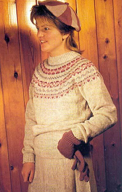 Pullover mit Rundpasse, yoked jumper