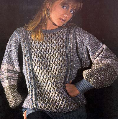 Pullover in verschiedenen Strukturmustern, sweater in different textured patterns