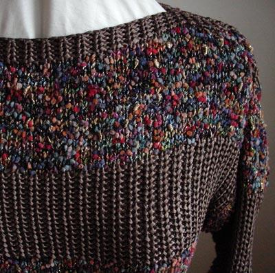 Ausschnitt-Detail, detail of neckline