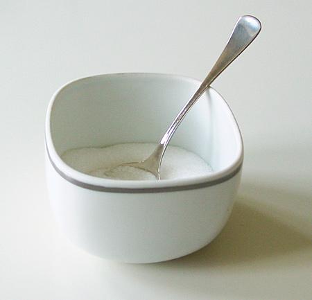 Weiße Zuckerdose