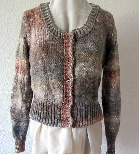 Design 1, Jacke aus Noro Kochoran, cardigan made of Noro Kochoran