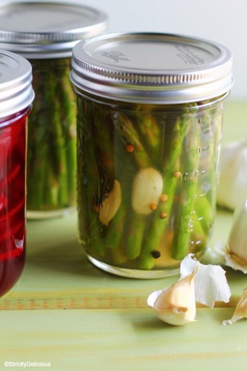 Beet & Asparagus Refrigerator Pickles via StrictlyDelicious