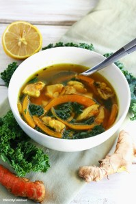 Sick Soup: Chicken, Kale, and Butternut Squash Noodle Soup | StrictlyDelicious.com