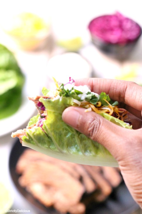 Paleo Balsamic Brisket Tacos | StrictlyDelicious.com